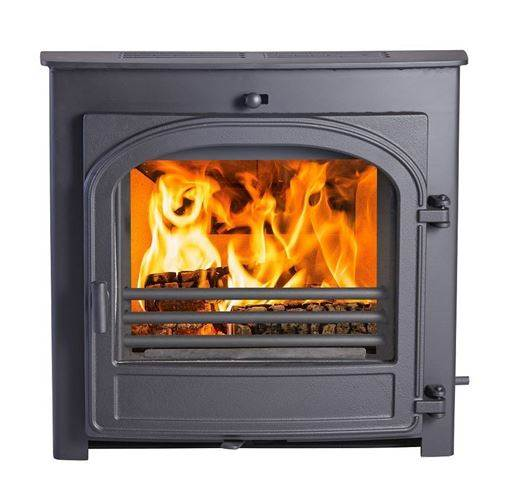 Hunter Telford 8 - The new Telford 8 Inset has retained its traditional styling but in terms of performance, it's in a whole new dimension. Rigorous testing has ensured that the Telford 8 provides optimum efficiency burning wood; the Cleanburn technology internal air flow burns wood evenly and economically. Your stove will efficiently smoulder through the night.