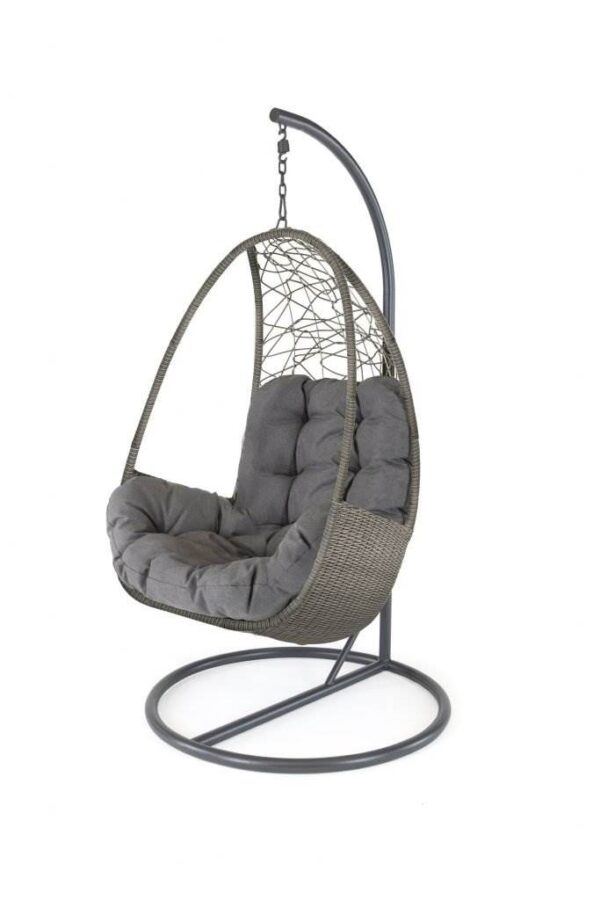 Palma Single Cocoon - Part of the Palma collection, the hanging egg chair is beautifully crafted with a sturdy powder-coated aluminium frame which is durable and non-rusting.