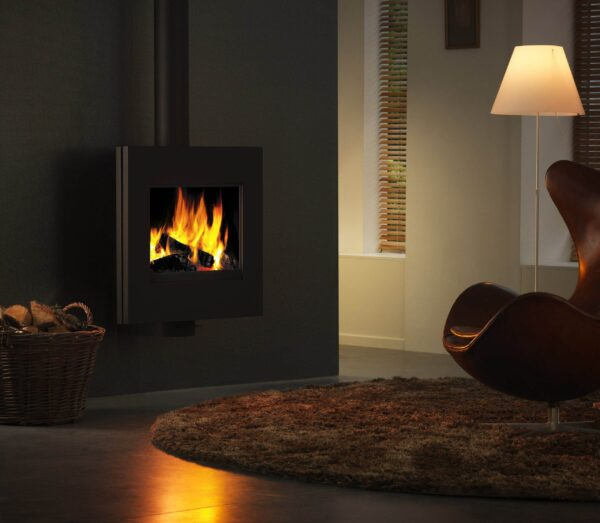 Harrie Leenders Dia - Dia is straightforward and minimalistic. Although attached to the wall, Dia is rotatable up to 45?. Dia heats up very quickly and only needs a small amount of wood to enfold into a nice fire, for that reason it is very suitable for smaller rooms.