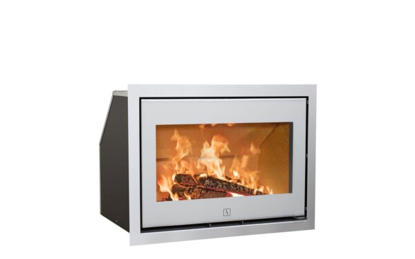 Scan 1005 - The Scan 1000-series consists of a number of elegant and exclusive stove inserts in different sizes - in short something for every need. The design is feminine and functional with innovative details such as front glass with black or white decor on most models.