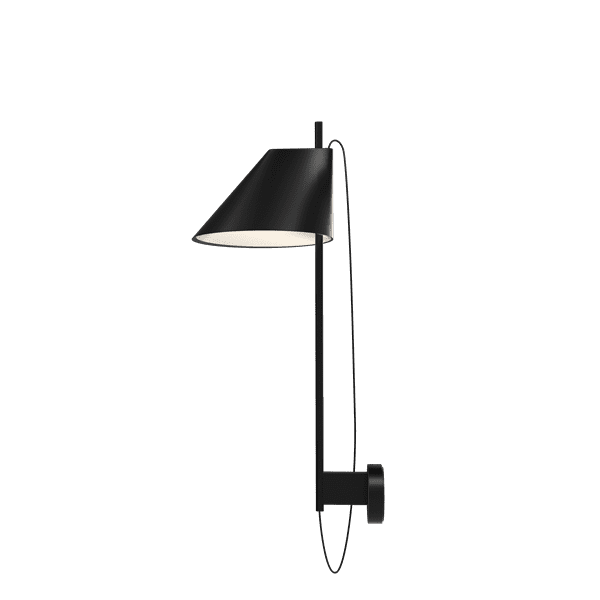 Yuh Wall - The fixture primarily provides direct glare-free downward directed light. The angle of the shade can be adjusted to optimise light distribution. A slim opening in the top of the shade provides soft, ambient upward illumination.