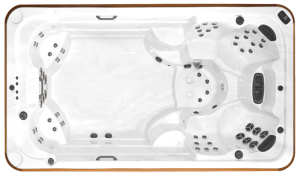 Arctic Spa Ocean - The Ocean includes maximum luxury in the form of more swim spa features than the other All Weather Pools. The Ocean's therapeutic potential is enriched by its combustibility in the form of multiple available jet configurations.