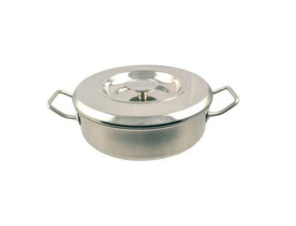 24cm Stainless Steel Saute Casserole - Swiss-made AGA stainless steel cookware has not only been designed to create perfect dishes every time but to also retain it's stylish appearence for years to come.
