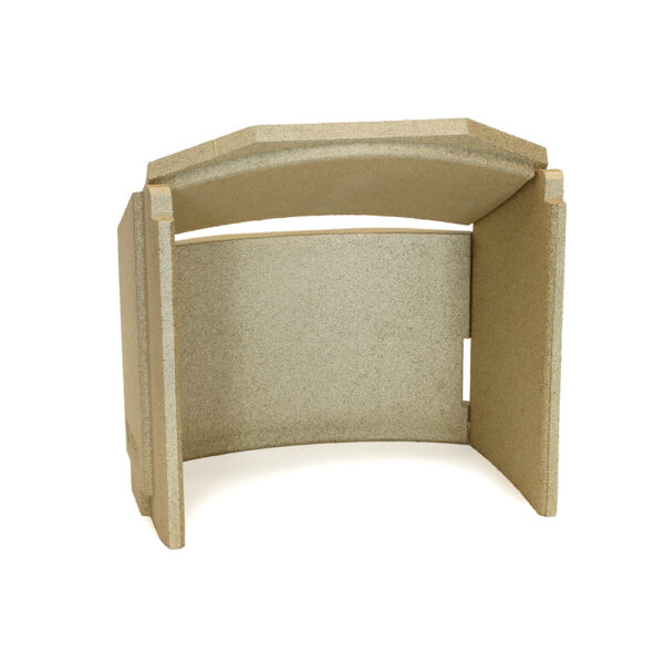Contura 50 series Firebrick Set - Vermiculite firebrick set fits Contura 51/51L/52/52T/53/54/54T. Contains: 1 x rear firebrick, 1 x top firebrick, 2 x side firebricks.