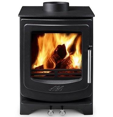 Aga Ellesmere EC5 - The latest editions to the AGA Stoves family are dynamic, exciting newcomers. Blending contemporary and traditional design, the new range of Ellesmere stoves offer clean lines and solid performance.