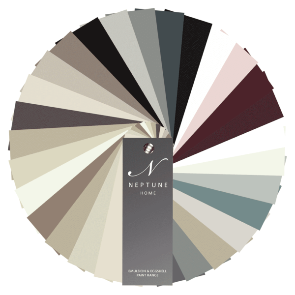 Neptune Colour Chart - This booklet shows you our edited collection of 28 shades, at a glance. It's arranged by palette, so you can see how the four shades in each group work together. As well as our core colours, you'll also get a smaller booklet with our seasonal and archive shades in too
