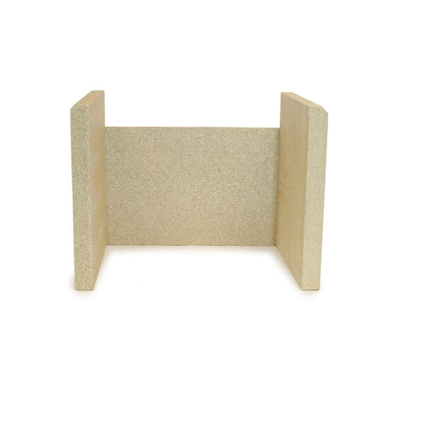 Woodwarm Firebrick Set - Replacement vermiculite firebrick set for Woodwarm stoves. Contains 1 x rear firebrick and 2 x side firebricks.