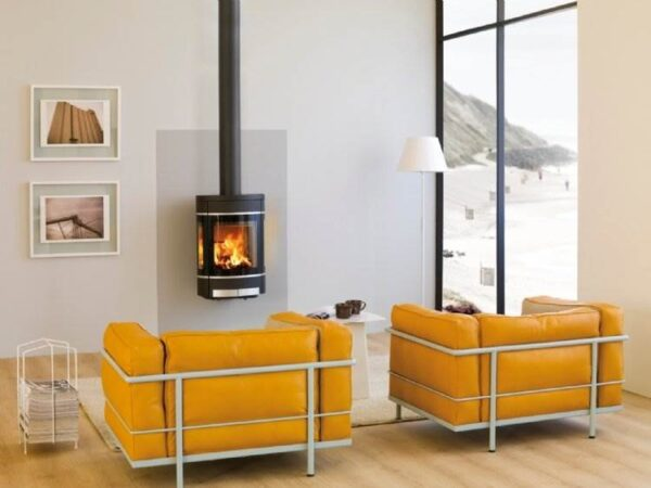 Scan 68 Wall Hung - Scan 68 draws its design from the iconic Scan 58 series, one of the world's bestselling stoves. The straight lines and combination of glass and aluminium represent the principal of design expression. The elliptic shape adds an expression into its surroundings and is a joy to watch. The Scan 68 series is available with three different base options - or you can simply hang it on the wall. As something new Scan 68 is now also available in grey, white, champagne, and silver!