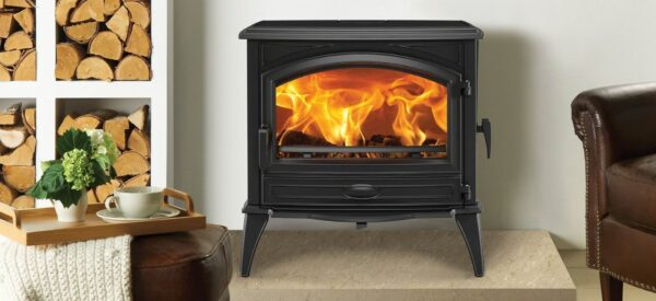 "Dovre 760 - The Dovre 760WD is a truly impressive wood burning stove. It features?<a href=""https://dovre.co.uk/labels/cleanburn/"">Cleanburn</a>, an?<a href=""https://dovre.co.uk/labels/airwash/"">Airwash</a>?system, a side loading door as well as a glass front door, a separate ashpan door and up to 11kW of heat. Made from premium grade cast iron, this traditional wood burning stove allows logs of up to 52cm to be loaded ? so there is less sawing if you are using your own wood."