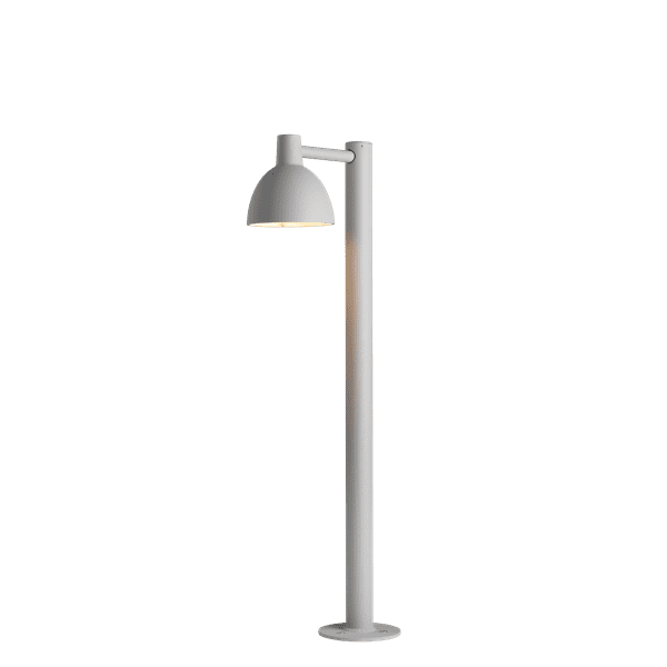 Toldbod 155 Bollard - The light is directed 100% downwards and the shade has a matt white painted interior emitting a soft, diffused, comfortable light.
