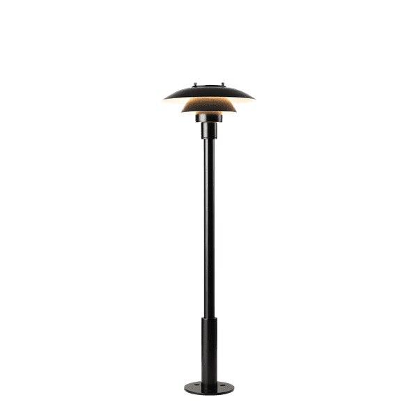 PH 3-2? Bollard - The fixture is designed based on the principle of a reflective three-shade system, which directs the light downwards. The shades have a matt white painted interior surface, diffusing the light in a comfortable way.
