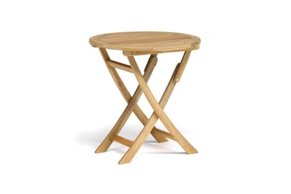 RHS Bistro Table - The luxurious RHS Chelsea range is made from natural eucalyptus wood with a hand coated teak oil finish. Traditional in style, the RHS Chelsea seating is made for garden lovers. Expect high-quality in every little detail.