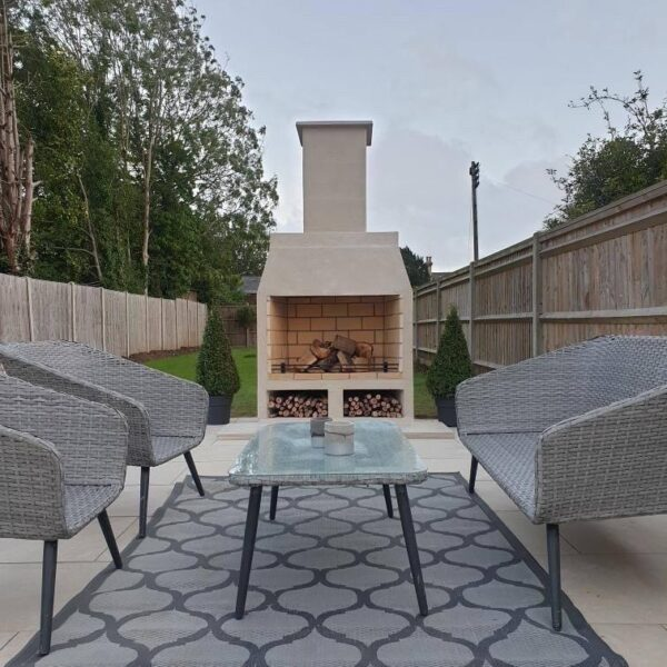 Isokern Garden 1200 - The Isokern 1200 Outdoor Fireplace will be THE spectacular focal point in any garden. The 1200 is the largest model and is as easy to install as the smaller models.