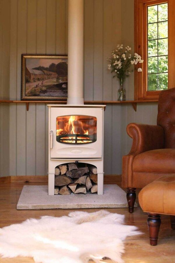 Charnwood C-Five BLU - The Stove is DEFRA Approved allowing wood burning in smoke controlled areas and is also Ecodesign ready and exceeds the 2022 EU directives for reduced particulates and emissions.