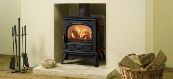 Dovre 280 Gas - The Dovre 280 traditional gas stove is an all new model that blends Dovre?s pedigree in casting with the latest gas flame technology. This traditional gas stove not only looks highly realistic but also provides you with effective and controllable warmth. The distinctive Dovre 280 gas stove model is available in both balanced flue and conventional flue versions. This gas stove comes with a log effect fire and has a choice of remote controls to allow you to adjust the flame effect and heat output.