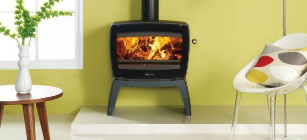 """Dovre Vintage 50 - The Dovre Vintage 50 is the largest wood burning stove in the Dovre Vintage range and has a wide, landscape window through which to enjoy the captivating, rolling flames created by Dovre's<a href=""""https://dovre.co.uk/labels/cleanburn/"""">Cleanburn</a>system. Made from cast iron, this stove is highly efficient and suitable for use in<a href=""""https://dovre.co.uk/labels/smoke-control/"""">Smoke Control Areas</a>, making it the perfect solution for those in urban places."""
