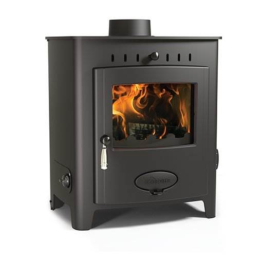 Arada Ecoboiler 12 HE - British built freestanding single door multi fuel boiler stove with a 7 year guarantee. Maximum output to water 12.1kW, compatible with domestic central heating systems