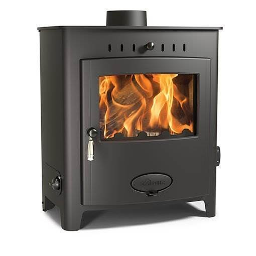 Arada Ecoboiler 16 HE - British built freestanding single door multi fuel boiler stove with a 7 year guarantee. Maximum output to water 13.6kW, compatible with domestic central heating systems