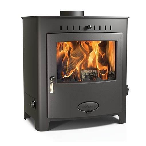 Arada Ecoboiler 25 HE - British built freestanding single door multi fuel boiler stove with a 7 year guarantee. Maximum output to water 22.5kW, compatible with domestic central heating systems