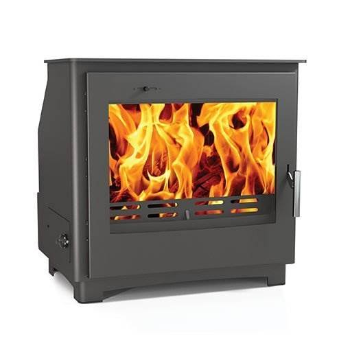 Arada Ecoboiler Wood - Freestanding wood-only boiler stove with a 7 year guarantee. 11.8kW output to water. Compatible with domestic central heating systems.