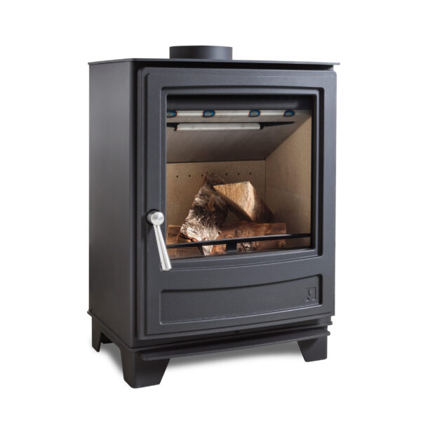 """Arada Ecoburn 5 - The all-new series three Arada Ecoburn 5 multifuel stove (burns wood logs or solid smokeless fuel) range comprises three models each featuring the latest and best new Arada heating technology that combines a traditional stove appearance with <a class=""""underline"""" href=""""http://www.stoveindustryalliance.com/ecodesign-ready-stoves-and-air-quality/"""" target=""""_blank"""" rel=""""noopener noreferrer"""">Ecodesign Ready </a>credentials. Available in 4.9kw and <a href=""""https://www.aradastoves.com/ecoburn-7-s3/p36784"""">7kW </a>outputs, and also a<a href=""""https://www.aradastoves.com/ecoburn-5-widescreen-s3/p36783"""">4.9kW Widescreen </a>option with large door glass with a beautiful flame view. Regardless of which option you choose, each model is a stylish and easy-to-use heating companion for the home."""