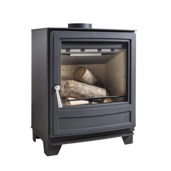 """Arada Ecoburn 7 - Part of the Ecoburn range featuring the latest and best new Arada heating technology that combines a traditional stove appearance with?<a class=""""underline"""" href=""""http://www.stoveindustryalliance.com/ecodesign-ready-stoves-and-air-quality/"""" target=""""_blank"""" rel=""""noopener noreferrer"""">Ecodesign Ready</a>?credentials. This 7kW stove has a large door glass with a beautiful flame view. This is a stylish and easy-to-use heating companion for the home."""