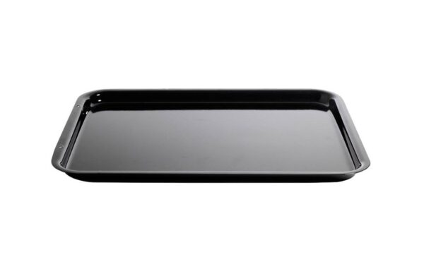 AGA Enamelled Steel Baking Trays - AGA enamelled steel baking traysare designed to fit on the runners of the AGA ovens for maximum use of space, so there is no need to put trays on the grid shelf. The heavy gauge steel, will not warp or buckle and is easy to clean.