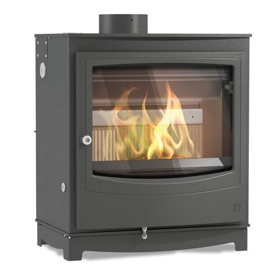 Arada Farringdon Catalyst - Ecodesign Ready large wood stove with inbuilt catalyst for very low emissions. Superior fuel efficiency with long burn times. Large fire viewing glass. 11.4kW output.