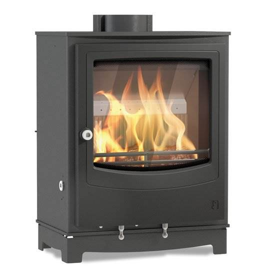 Arada Farringdon Small - Ecodesign Ready compact wood and solid fuel stove. Low emission. Superior fuel efficiency with long burn times. Large fire viewing glass. 4.9kW output.