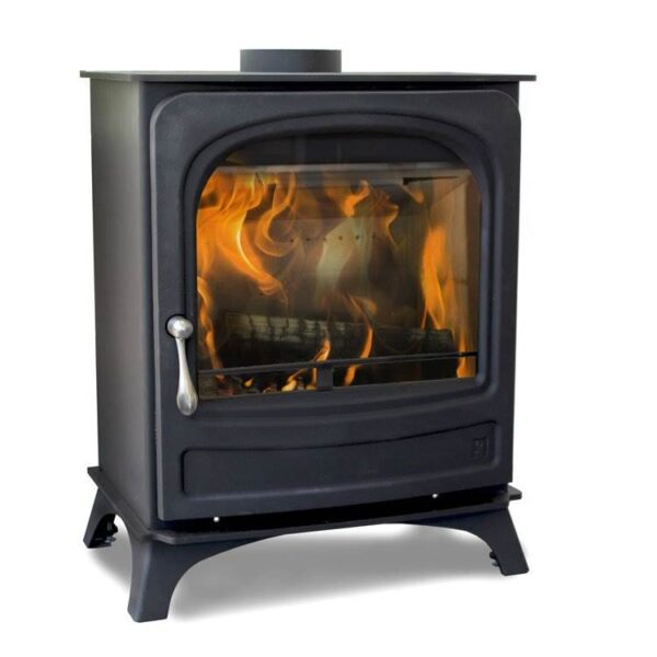Arada Holborn 5 Widescreen - Part of the Holborn range featuring the latest and best new Arada heating technology that combines a traditional stove appearance with Ecodesign Ready credentials. This Arada Holborn 5 Widescreen 5kW stove has a large door glass with a beautiful flame view. This is a stylish and easy-to-use heating companion for the home.