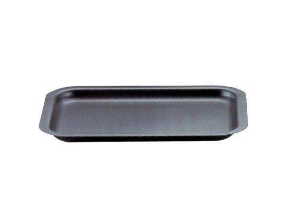 AGA Hard Anodised Baking Trays - AGA Hard Anodised Baking Trays are designed to fit on the runners of the AGA ovens for maximum use of space, so there is no need to put trays on the grid shelf. The heavy gauge aluminium, will not warp or buckle.