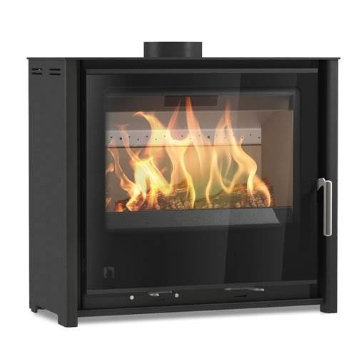 Arada i600 Slimline Freestanding Low - Wood burning and multi fuel stove. Suitable for UK Smoke Control zones. Lifetime guarantee, max. output 4.9kW.