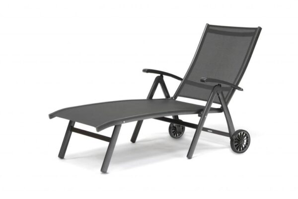 Kettler Surf Folding lounger - The Surf Collection by Kettler has a variety of seating and table options for dining to relaxing outdoors. Aluminum frames can stay in the garden all year round and they come backed up with our 3-year warranty. The textile sling seating is comfortable, moving to the contours of your body with no cushions required.