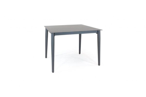 Kettler 90 x 90cm Table - The Surf Collection by Kettler has a variety of seating and table options for dining to relaxing outdoors. Aluminum frames can stay in the garden all year round and they come backed up with our 3-year warranty. The textile sling seating is comfortable, moving to the contours of your body with no cushions required. Kettler 90cm x 90cm table in Iron grey/grey aluminum with aluminum solid plate top.