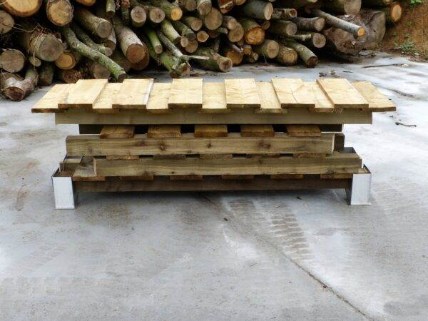 """190 Log Store - This store will hold approximately 1 cubic metre of 14"""" Logs. <strong>Dimensions:</strong> Width: 190cm, Height:162cm, Depth: 63cm. All of our logstores are made to order with a lead time of 1-2 weeks."""