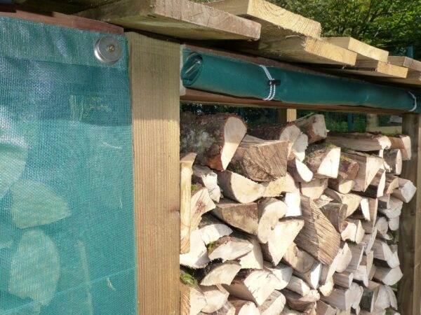 160 Rain Shield - Rain shield to suit 160 log store.