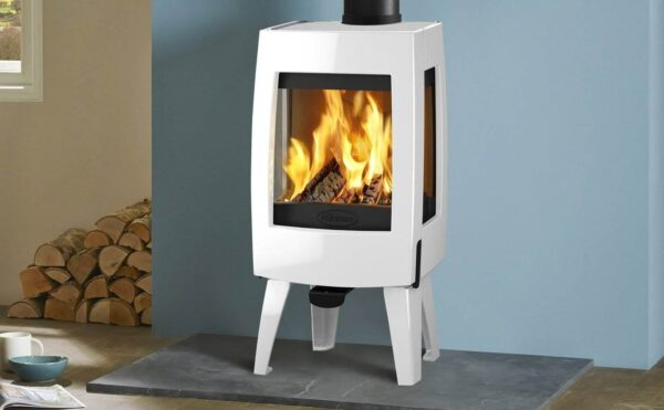 Dovre Sense 103 - The Sense 103 is wonderful addition to the growing collection of contemporary cast iron wood burning stoves from Dovre. With a subtly curved detail curved and highly distinctive legs, this ultra-slim wood burning stove will blend seamlessly into traditional & contemporary interiors alike.