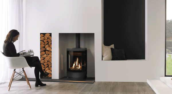 Gazco Loft - Bringing a completely new gas stove aesthetic to the Gazco line-up; the Loft gas stove with its tall and striking design takes its inspiration from contemporary Nordic styles, creating an impressive focal point that can be styled to suit the interior.