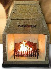 Isokern Magnum 1200 Firechest - The Isokern fire chest range is cast using lightweight, highly insulating pumice. The components interlock like pieces of a three dimensional jigsaw to form a sturdy, robust fireplace recess and gather. The joints are sealed using lip glue jointing compound. Starting from a suitable foundation and constructional hearth, assembly of the complete fire chest and gather could take less than one hour.