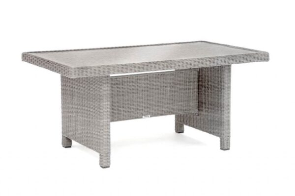 Palma Glass Top Table - Whether you are looking for lounge or dining sets we have something in the Palma range to suit everyone.  This popular range of the Casual Dining concept to now include Palma Dining Sets and also lots more accessories. Wicker products are all hand woven onto a square tube aluminium frame which is extremely strong. The wicker is completely weatherproof, UV resistant and maintenance free, requiring nothing but an occasional wash. Available in a choice of two colours: rattan or white wash.