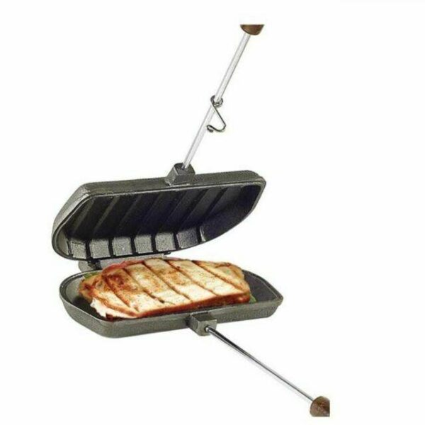 """Panini Press Cooker - <span style=""""float: none; background-color: #ffffff; color: #3a3a3a; cursor: text; font-family: Georgia,'Times New Roman','Bitstream Charter',Times,serif; font-size: 100%; font-style: inherit; font-variant: normal; font-weight: inherit; letter-spacing: normal; text-align: left; text-decoration: none; text-indent: 0px; text-transform: none;"""">From the foremost designer of Pie Irons comes a new sandwich press designed specifically for grilled Italian Panini sandwiches.</span>"""
