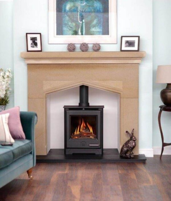 Woodwarm Phoenix Gas 5kw - Designed for style, comfort and maximum efficiency, our Gas Range brings instant control at the touch of a button. All the Phoenix Gas Range run on Natural Gas or LPG. Phoenix Gas Stoves are handcrafted in Devon to the highest possible standards and are modelled on the popular Phoenix Multifuel Range, with its large feature glass door. The Phoenix Range comes with the option of a unique fan assisted convection system and with a choice of log or coal effect.