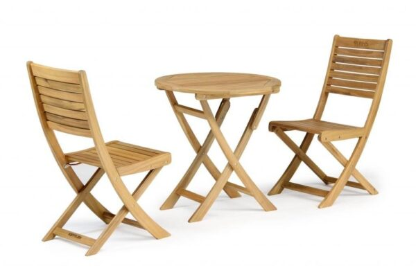 RHS Chelsea Bistro Chair (Pair) - The luxurious RHS Chelsea range is made from natural eucalyptus wood with a hand coated teak oil finish. Traditional in style, the RHS Chelsea seating is made for garden lovers. Expect high-quality in every little detail. Sold in pairs.