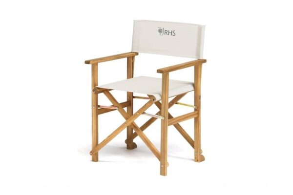 RHS Directors Chair (Pair) - The luxurious RHS Chelsea range is made from natural eucalyptus wood with a hand coated teak oil finish. Traditional in style, the RHS Chelsea seating is made for garden lovers. Expect high-quality in every little detail.