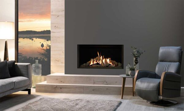 Gazco Reflex 105 - Dancing flames. A glowing ember bed. Logs that look as real as, well? the real thing. These are all the elements that make the landscape Reflex 105 so realistic, you may find it hard to believe it?s a gas fire. And with its wealth of styling options, the 105 gives you the freedom to tailor your fire to your home. So whatever your tastes ? you will experience the extraordinary
