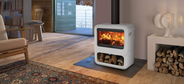"Dovre Rock 500 - The versatile Dovre Rock 500 wood burning stove shares the modern, minimal styling of the smaller <a href=""https://dovre.co.uk/appliance/rock-350-wood-stoves/"">Rock 350</a> model. Creating an eye-catching focal point with a superb landscape flame view, this large format cast iron stove is sure to impress."