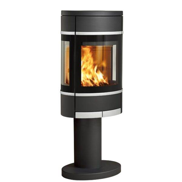 Scan 68 Series - Scan 68 draws its design from the iconic Scan 58 series, one of the world's bestselling stoves. The straight lines and combination of glass and aluminium represent the principal of design expression. The elliptic shape adds an expression into its surroundings and is a joy to watch. The Scan 68 series is available with three different base options - or you can simply hang it on the wall. As something new Scan 68 is now also available in grey, white, champagne, and silver!