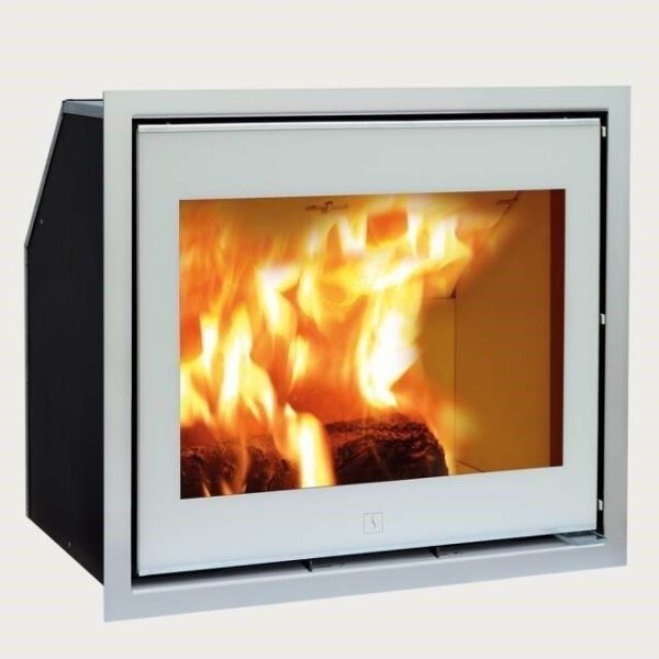 Scan 1003 - The Scan 1000-series consists of a number of elegant and exclusive stove inserts in different sizes - in short something for every need. The design is feminine and functional with innovative details such as front glass with black or white decor on most models.