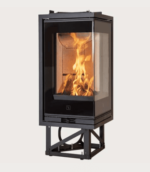 Scan 1008 - The Scan 1000-series consists of a number of elegant and exclusive stove inserts in different sizes - in short something for every need. The design is feminine and functional with innovative details such as front glass with black or white decor on most models.