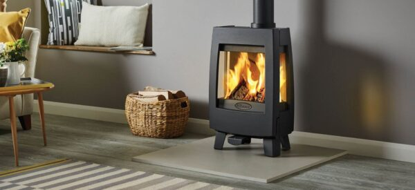 Dovre Sense 113 - The Dovre Sense 113 wood burning stove has the signature ultra-contemporary styling, slim proportions and subtle curves of the Sense range, but features shorter legs that make it a convenient height for a wide range of free standing and inglenook installations.
